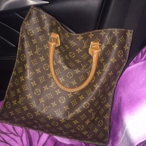 Louis Vuitton vintage monogram sac plat satchel